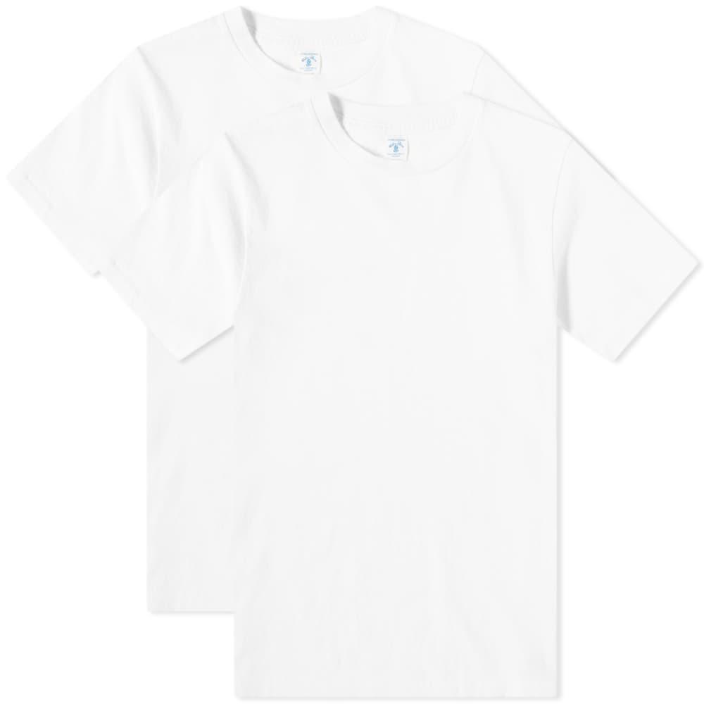 Velva Sheen 2 Pack Plain Tee - White
