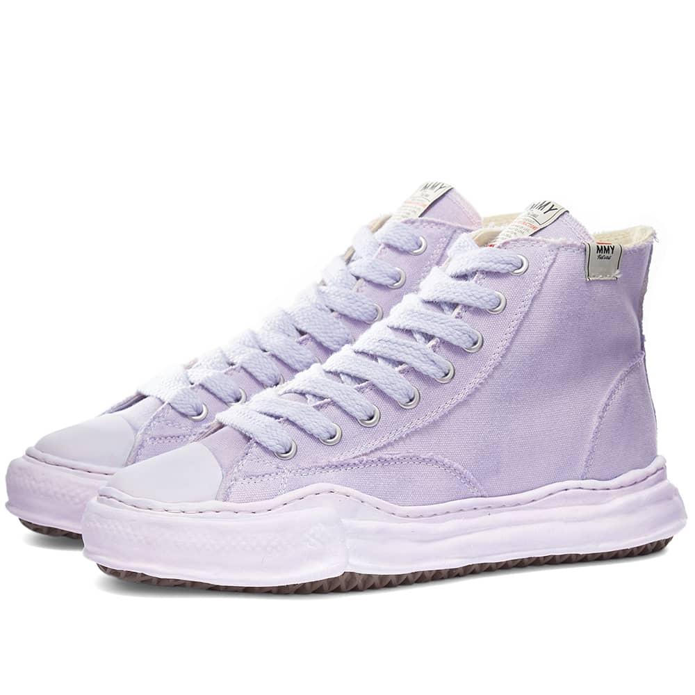 Maison MIHARA YASUHIRO Peterson Hi Original Sole Dyed Sneaker - Purple