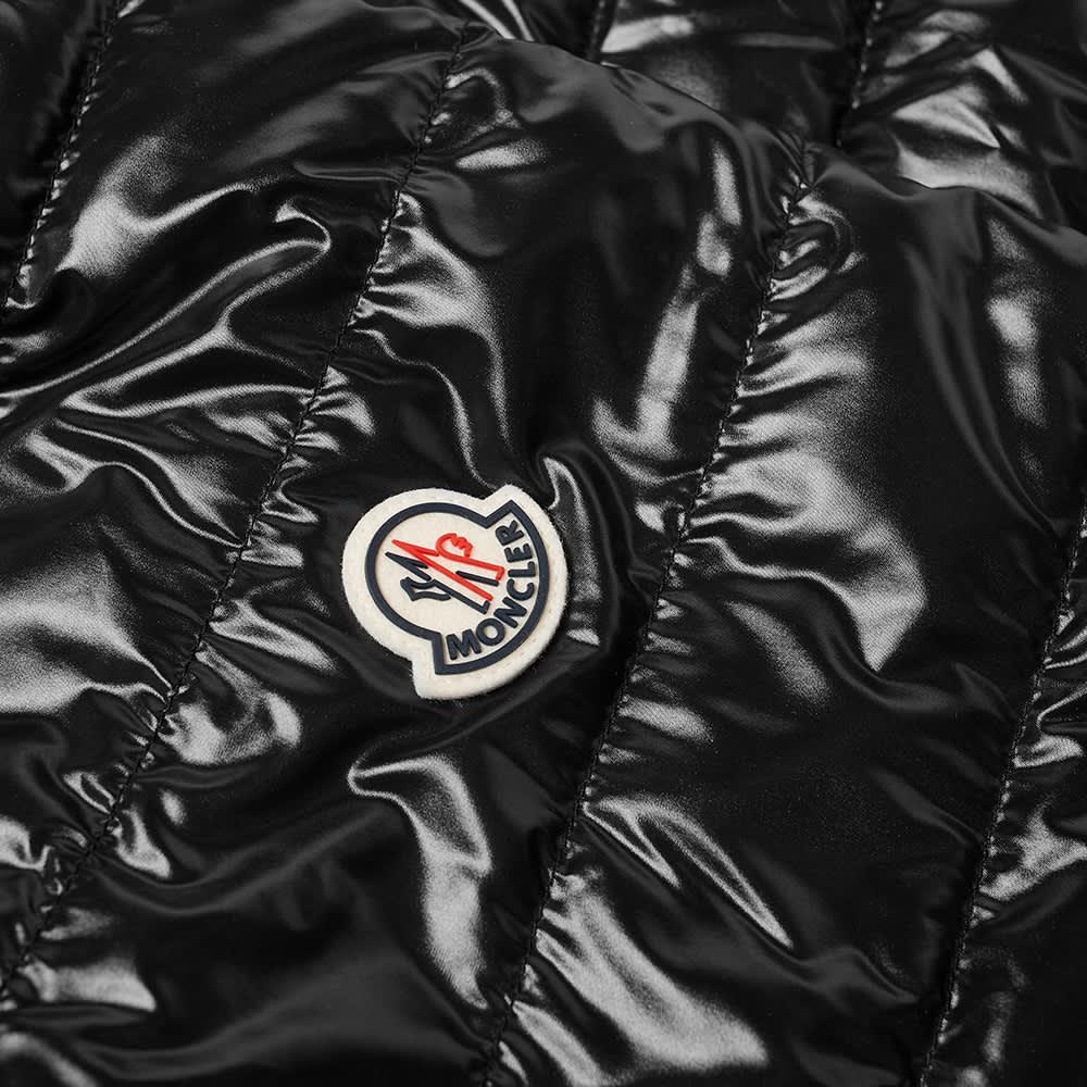 Moncler Perouges Tricolore Zip Down Bomber Jacket - Black