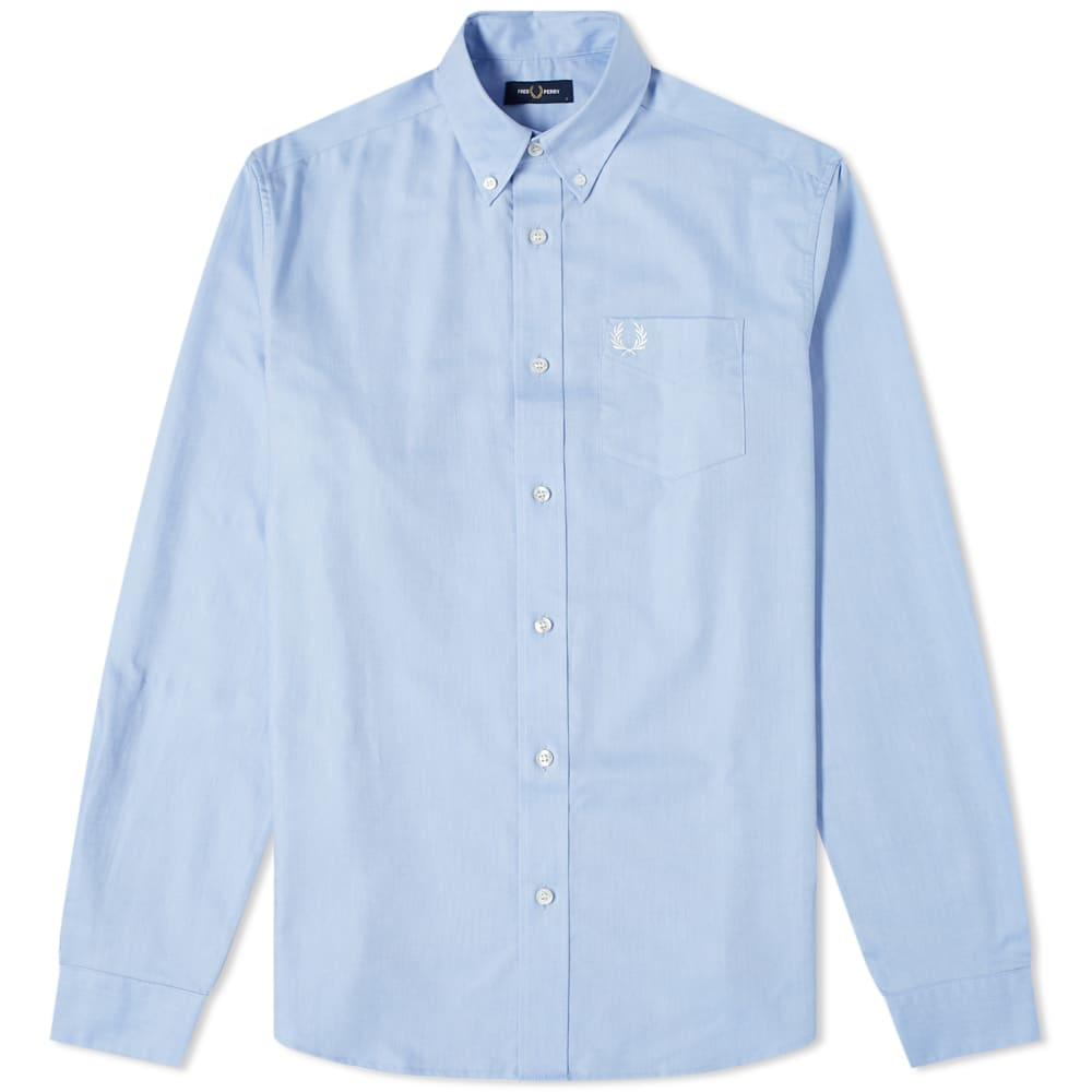 Fred Perry Button Down Oxford Shirt - Light Smoke
