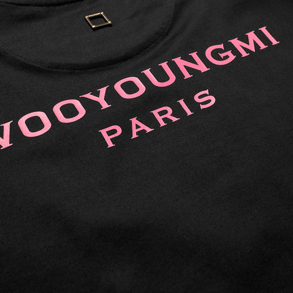 Wooyoungmi Back Logo Tee - Black & Pink