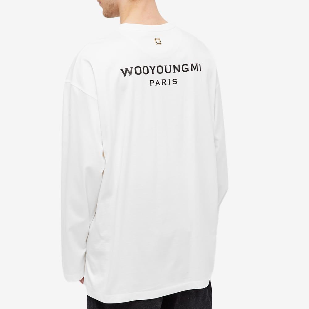 Wooyoungmi Long Sleeve Back Logo Tee - White
