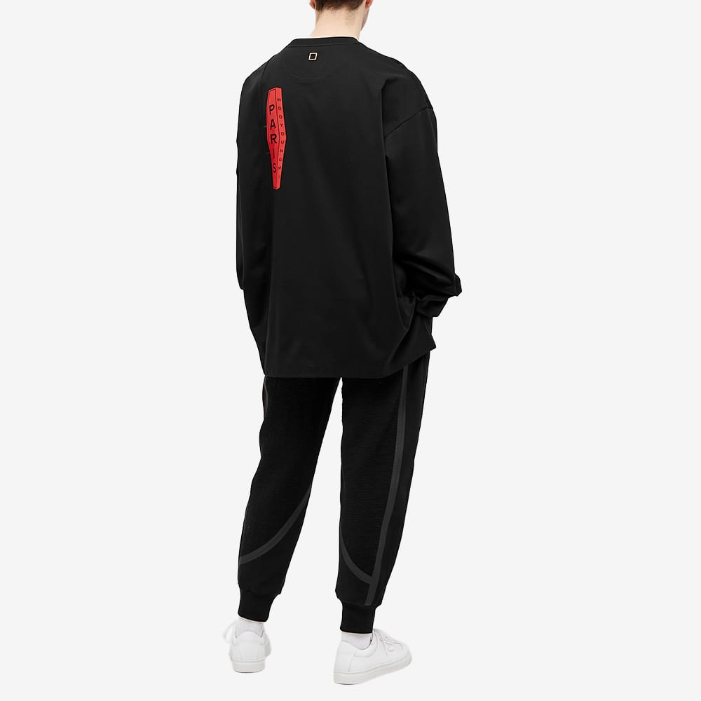 Wooyoungmi Long Sleeve Logo Tee - Black
