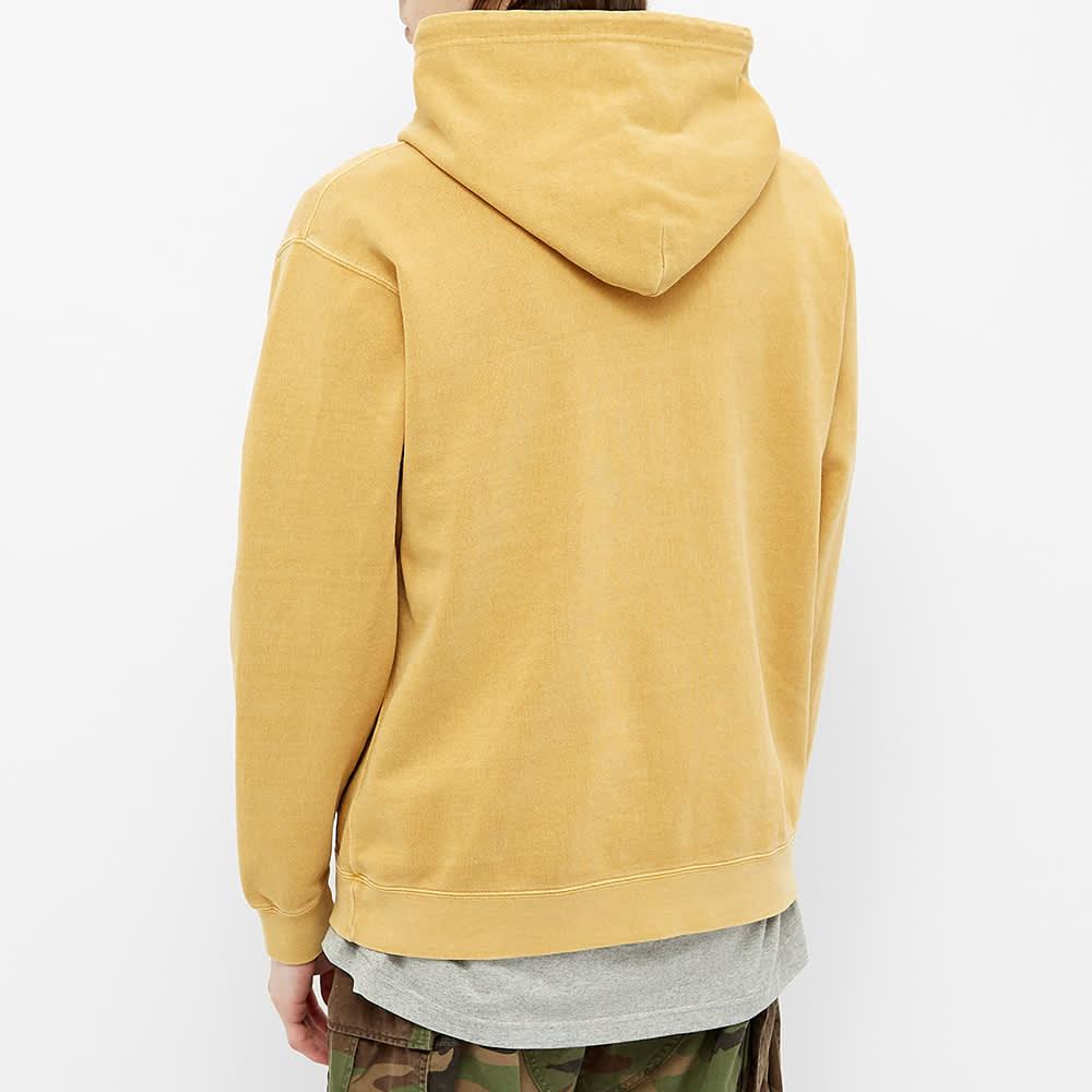 Beams Plus Pigment Dyed Popover Hoody - Yellow
