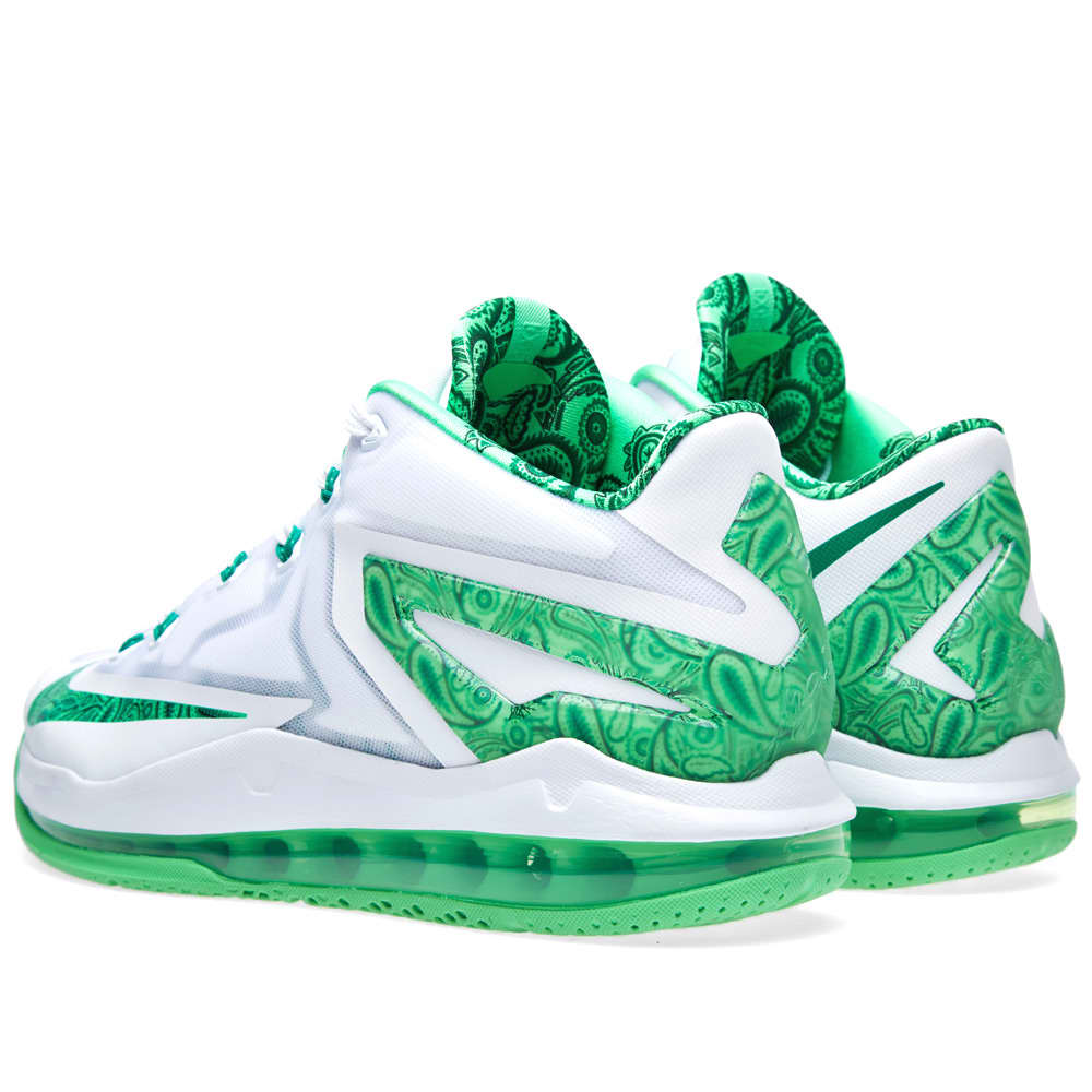 Nike Max LeBron XI Low 'Easter' - White & Light Lucid Green
