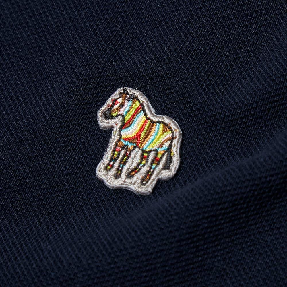 Paul Smith Regular Fit Long Sleeve Zebra Polo - Navy