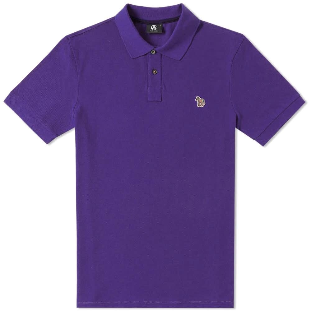 Paul Smith Regular Fit Zebra Polo - Purple