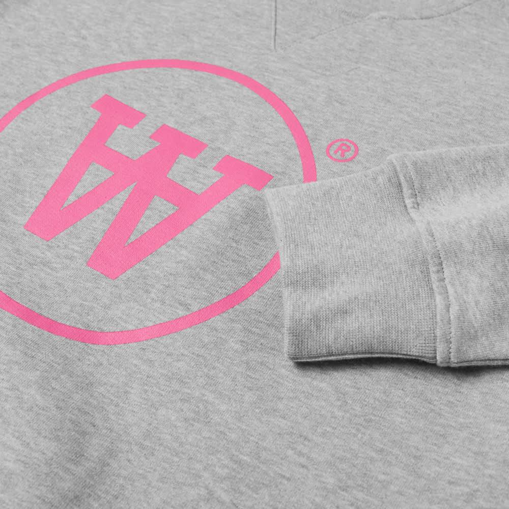 Wood Wood AA Tye Logo Crew Sweat - Grey & Pink