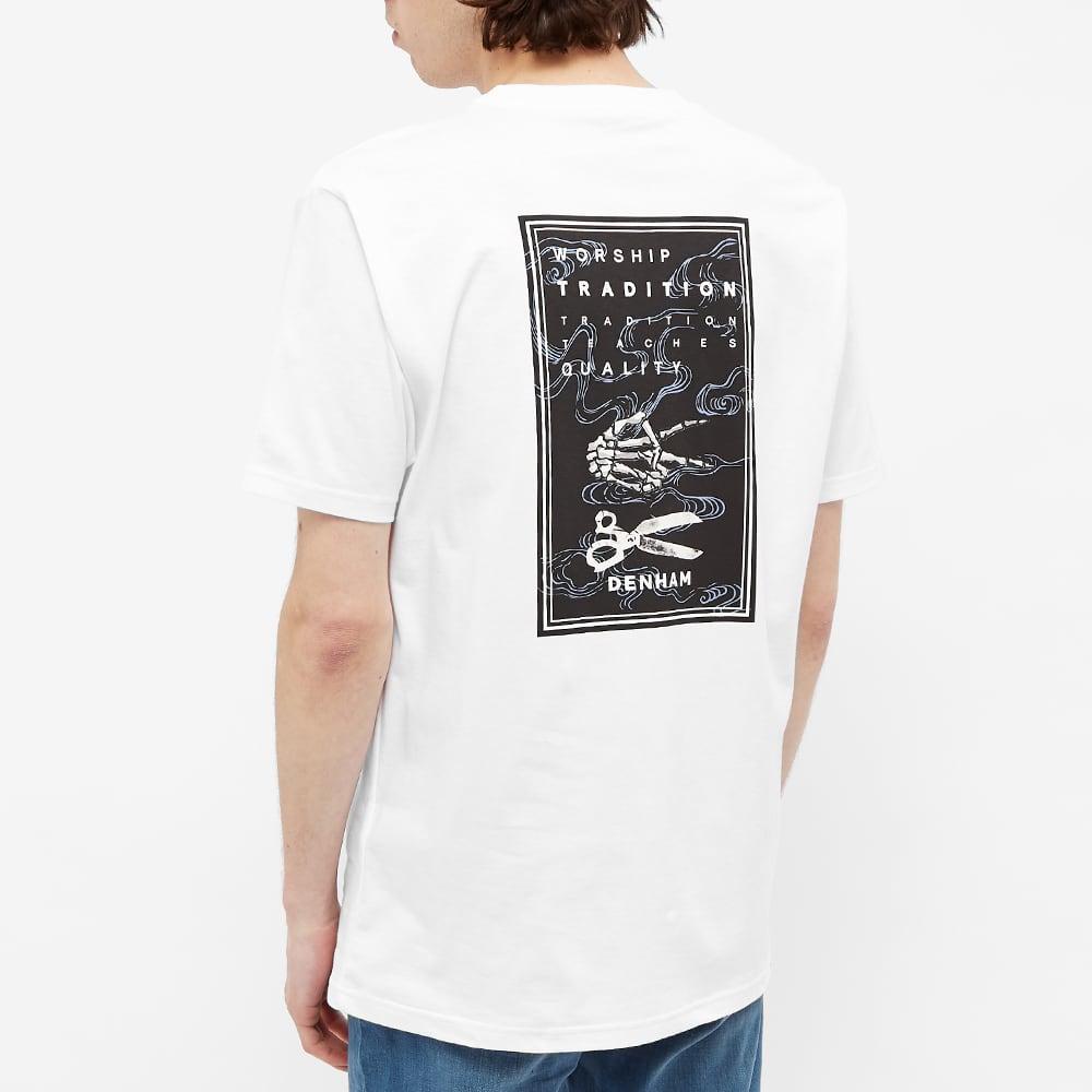 Denham Brandon Box Print Tee - White
