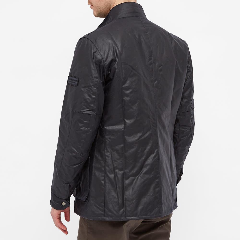 Barbour International Duke Wax Jacket - Navy