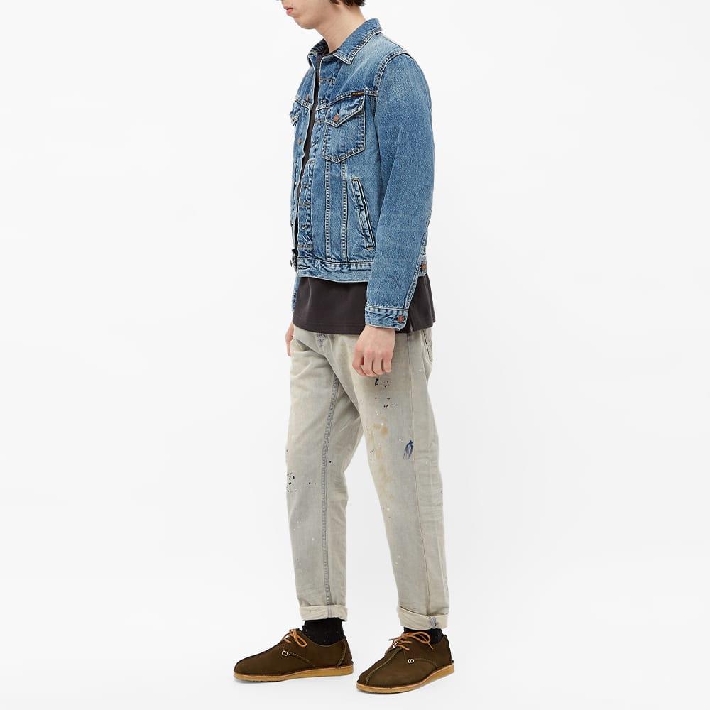 Denham Crop Paint Jean - Light Grey