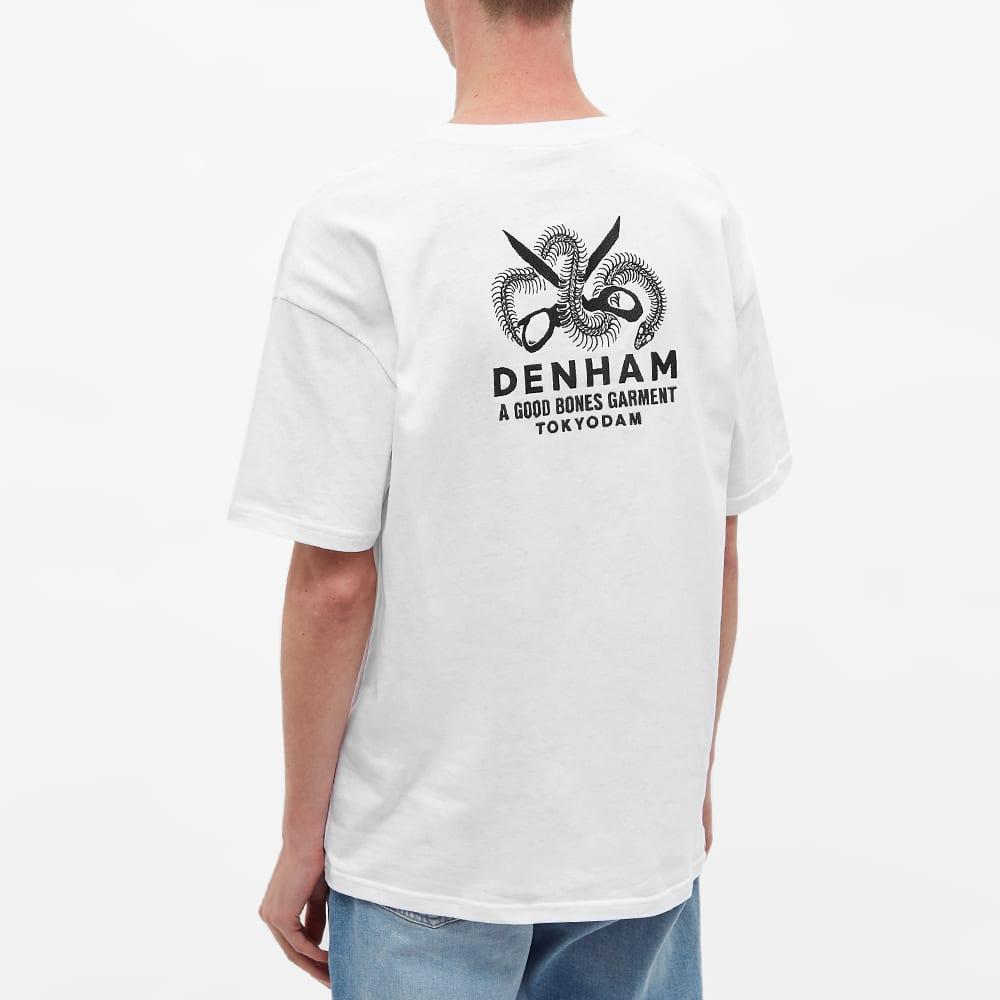 Denham Burton Reptile Skeleton Tee - White