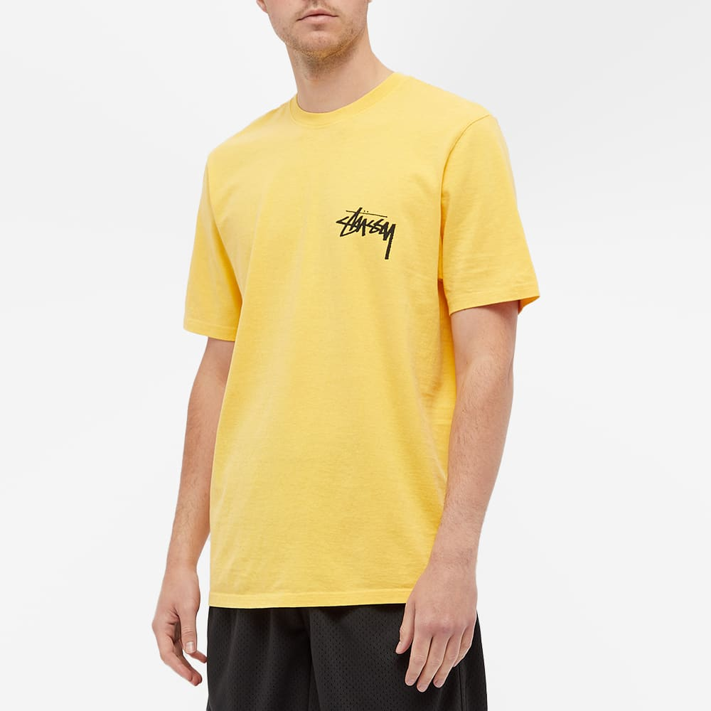 Stussy Painter Pigment Dyed Tee - Yellow