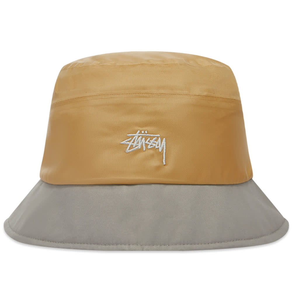 Stussy Outdoor Panel Bucket Hat - Khaki