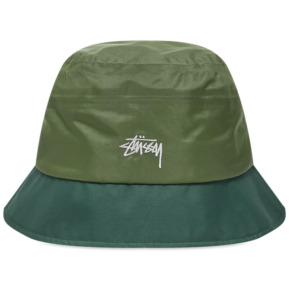 Stussy Outdoor Panel Bucket Hat - Olive