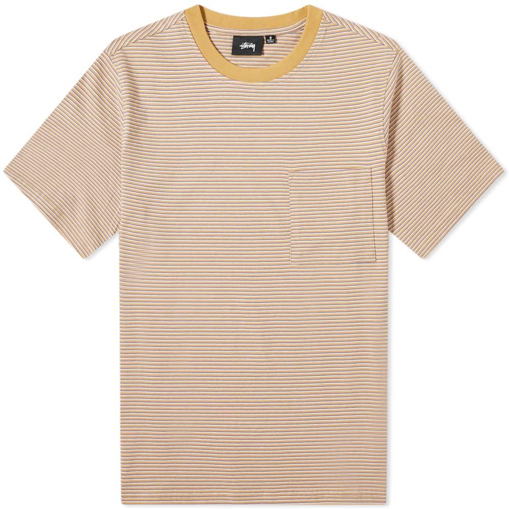 Stussy Mini Stripe Tee - Orange