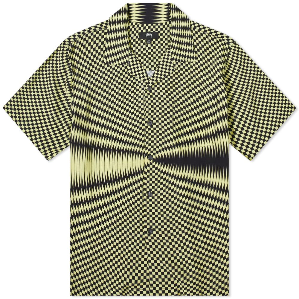 Stussy Psychedelic Check Shirt - Black