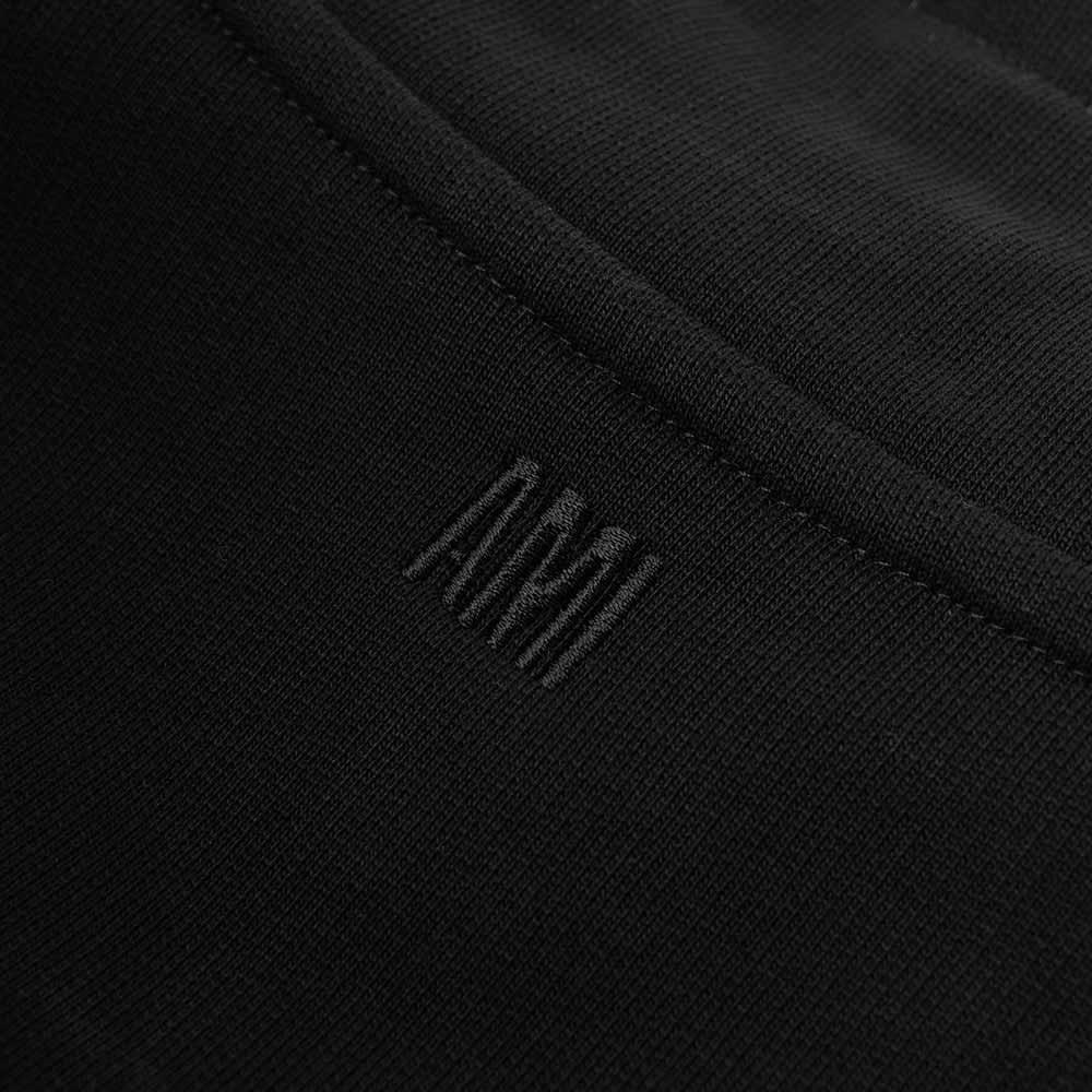 AMI Heart Drawstring Quarter Zip - Black