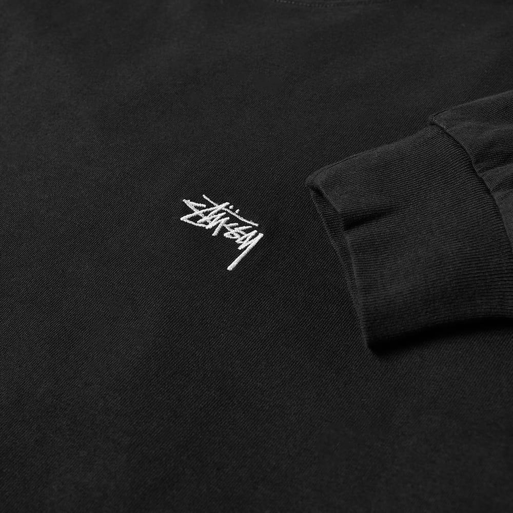 Stussy Long Sleeve Stock Logo Tee - Black