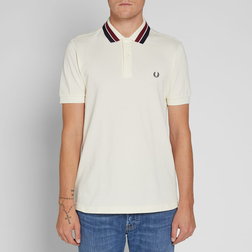 Fred Perry Bold Tipped Pique Polo - Ecru