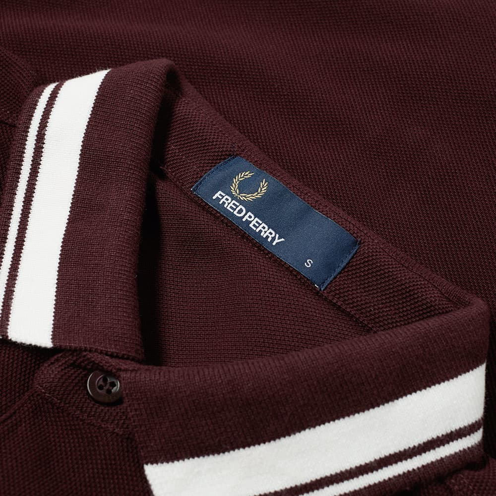 Fred Perry Contrast Tipped Polo - Deep Mahogany