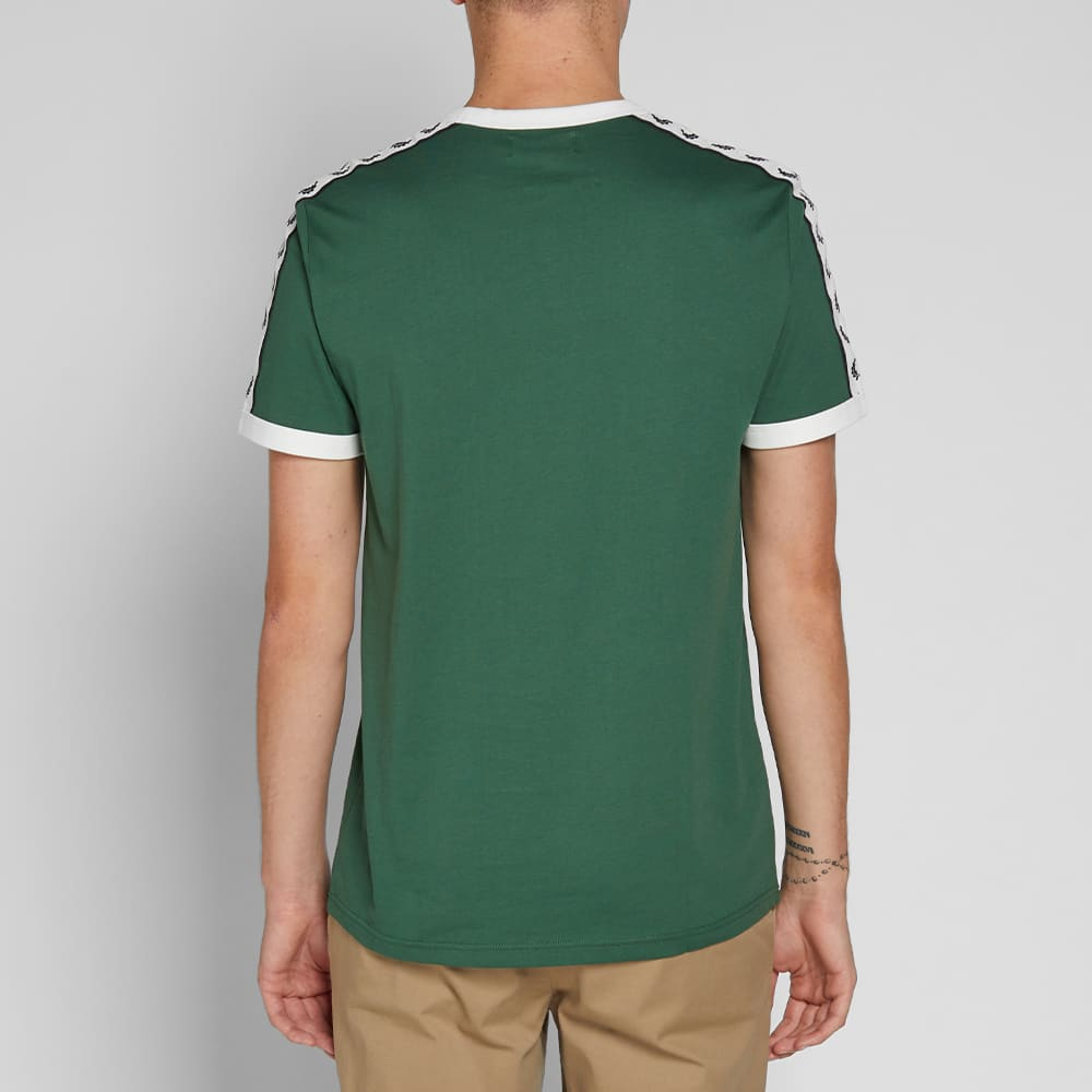 Fred Perry Taped Ringer Tee - Tartan Green