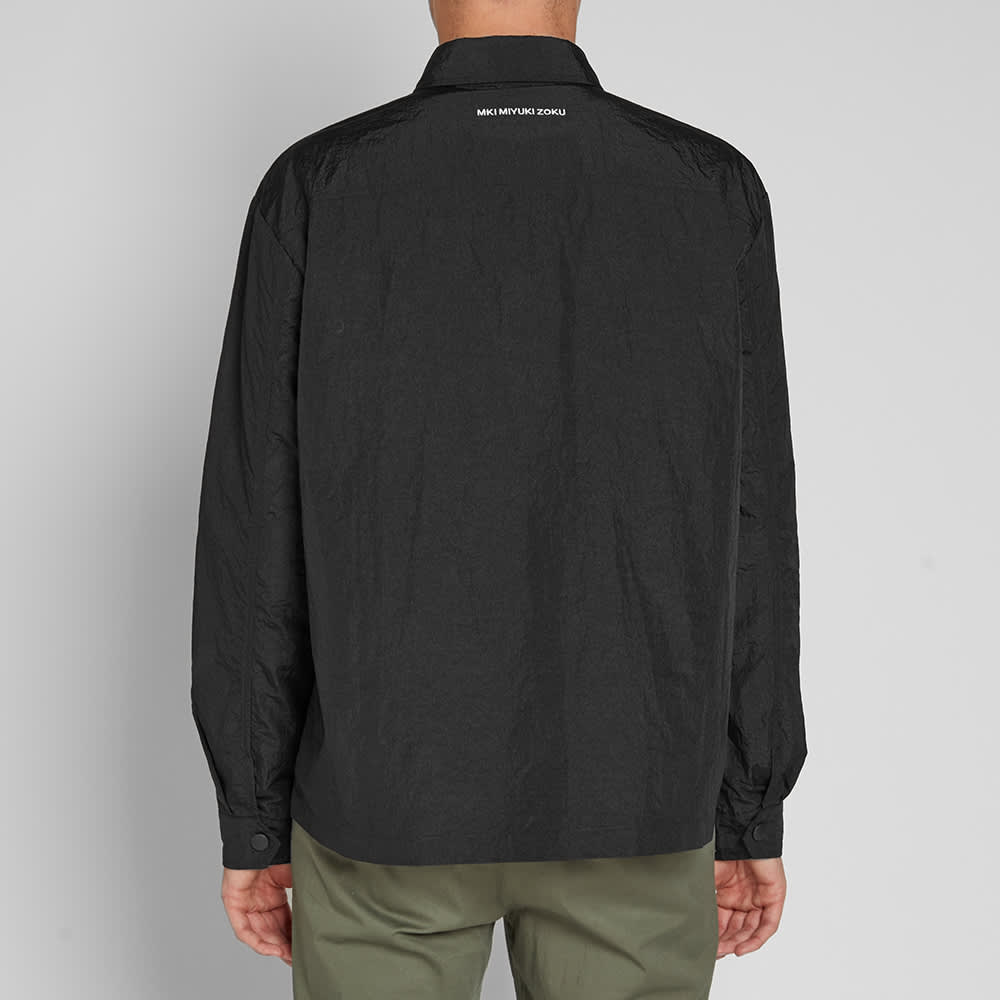MKI Nylon Zip Shirt Jacket - Black