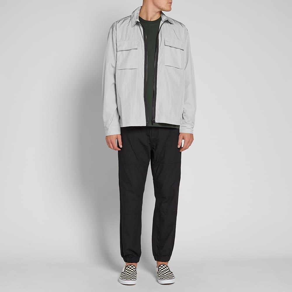 MKI Nylon Zip Shirt Jacket - Light Grey
