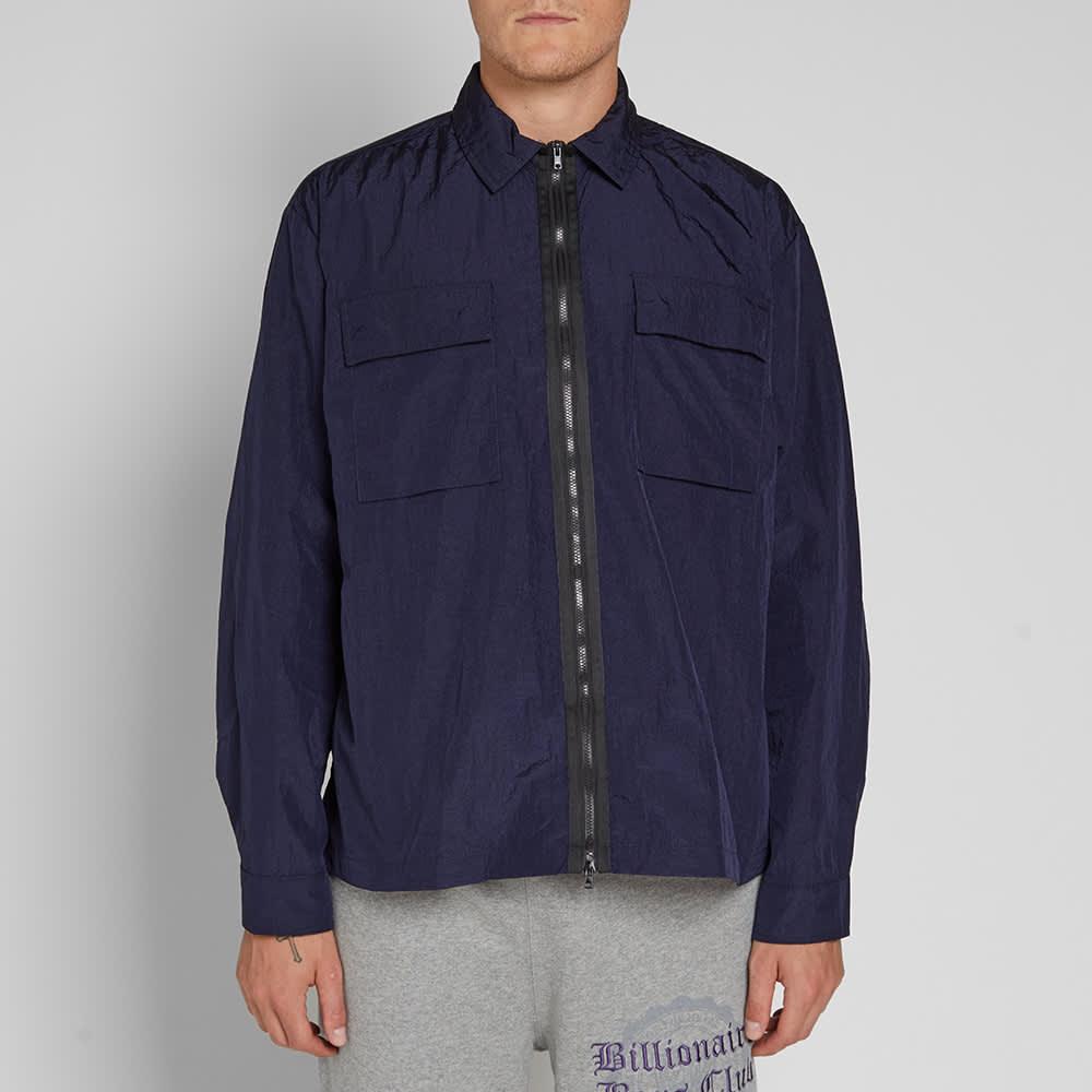 MKI Nylon Zip Shirt Jacket - Navy