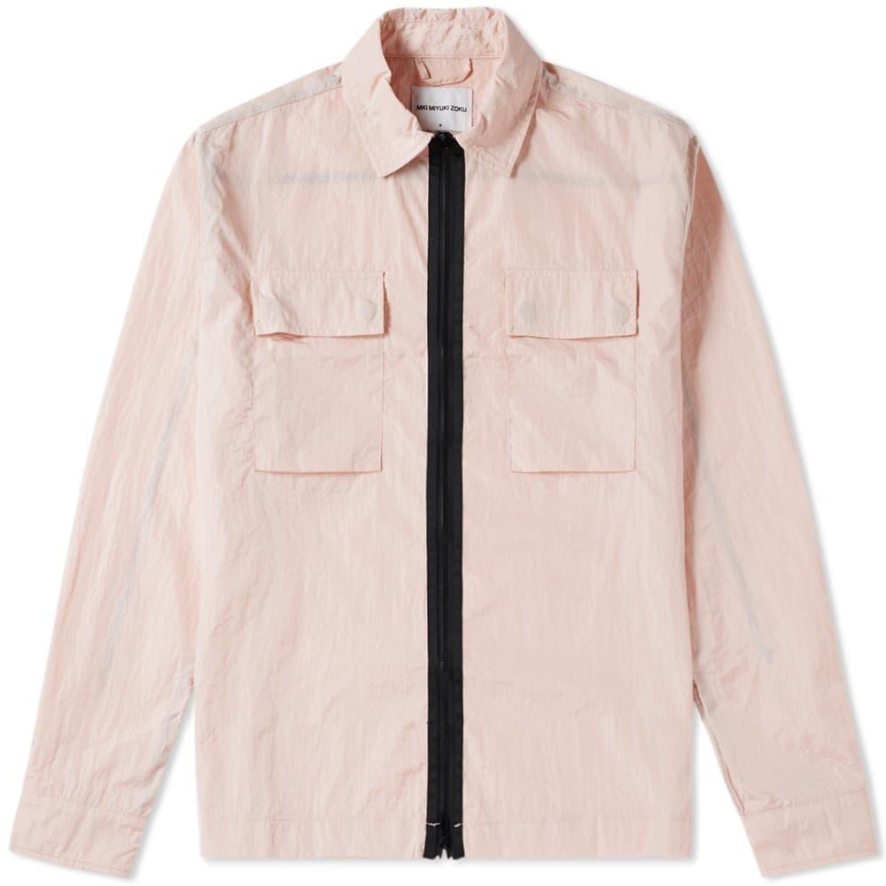 MKI Nylon Zip Shirt Jacket - Rose