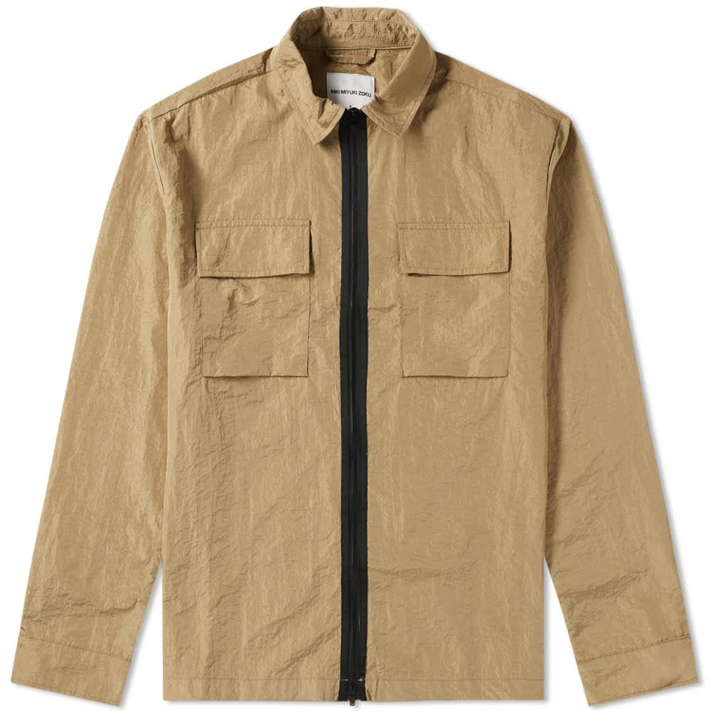 MKI Nylon Zip Shirt Jacket - Sand