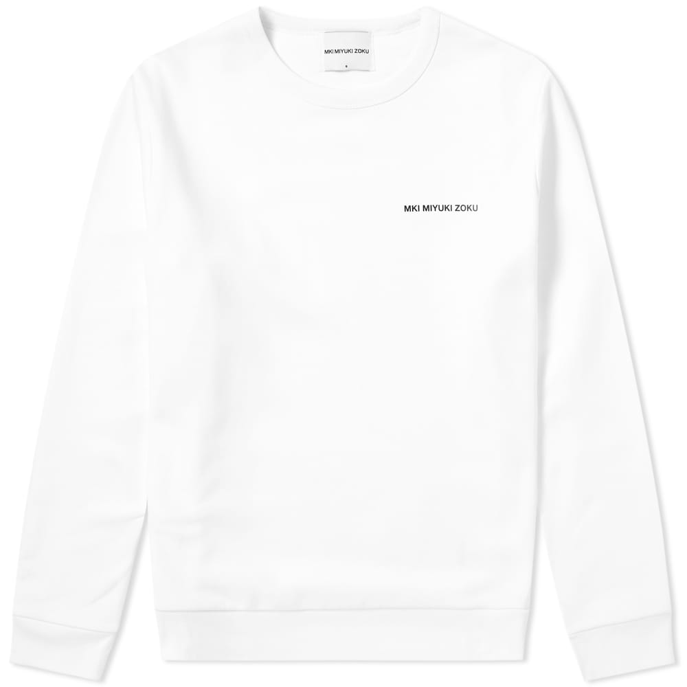 MKI Vinyl Logo Crew Sweat - White