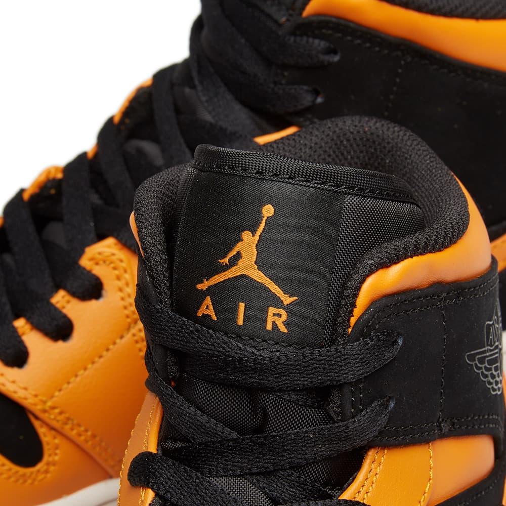 Air Jordan 1 Mid - Black, Orange Peel & Sail