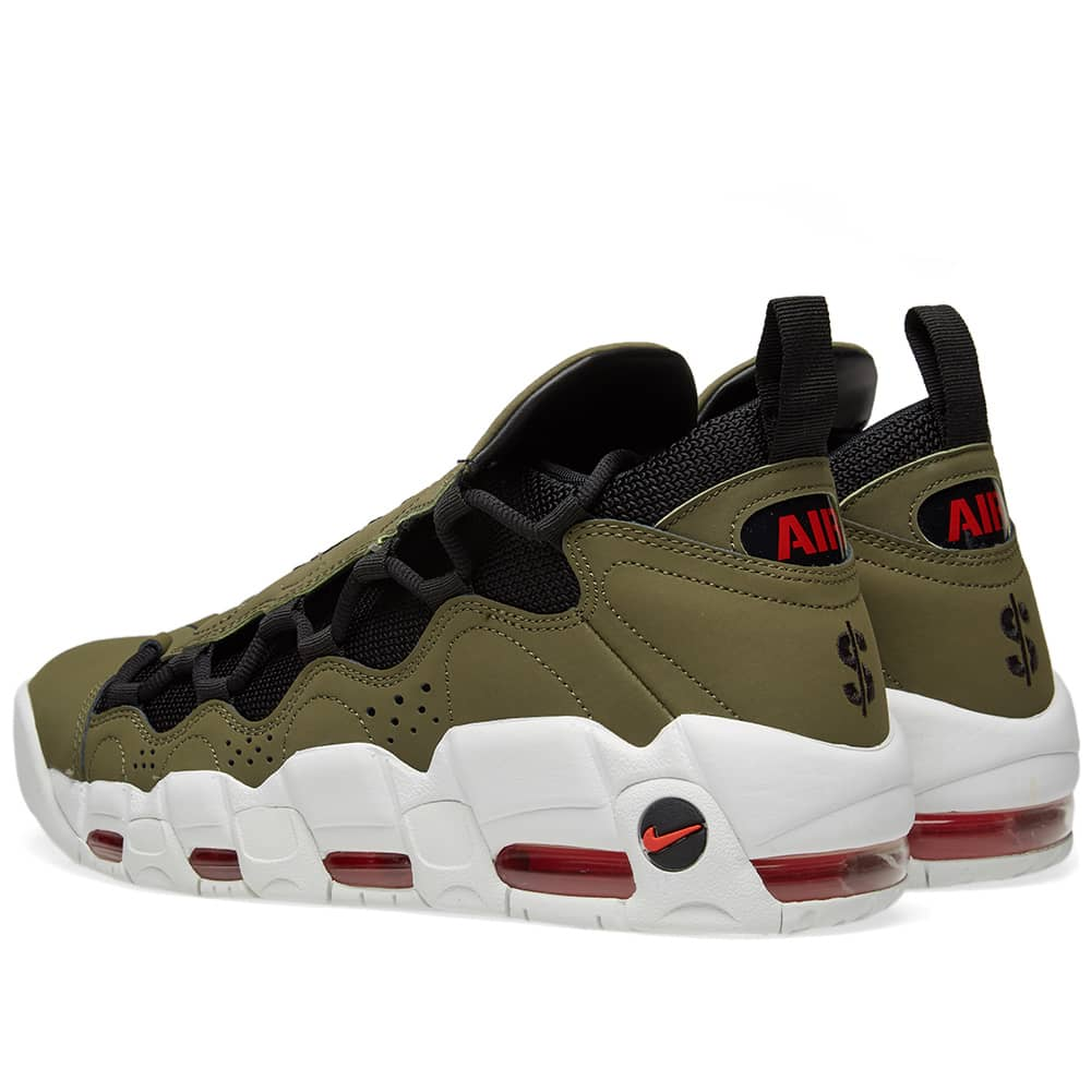 Nike Air More Money - Olive, Black, Red & White