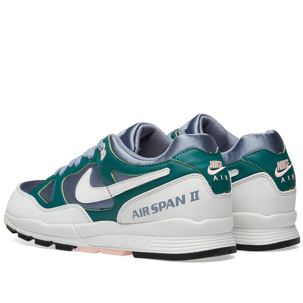Nike Air Span II W - Slate, White & Rainforest
