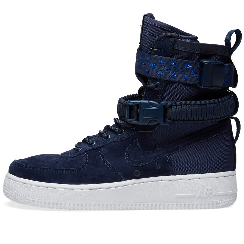 Nike SF Air Force 1 W - Midnight Navy, White & Purple