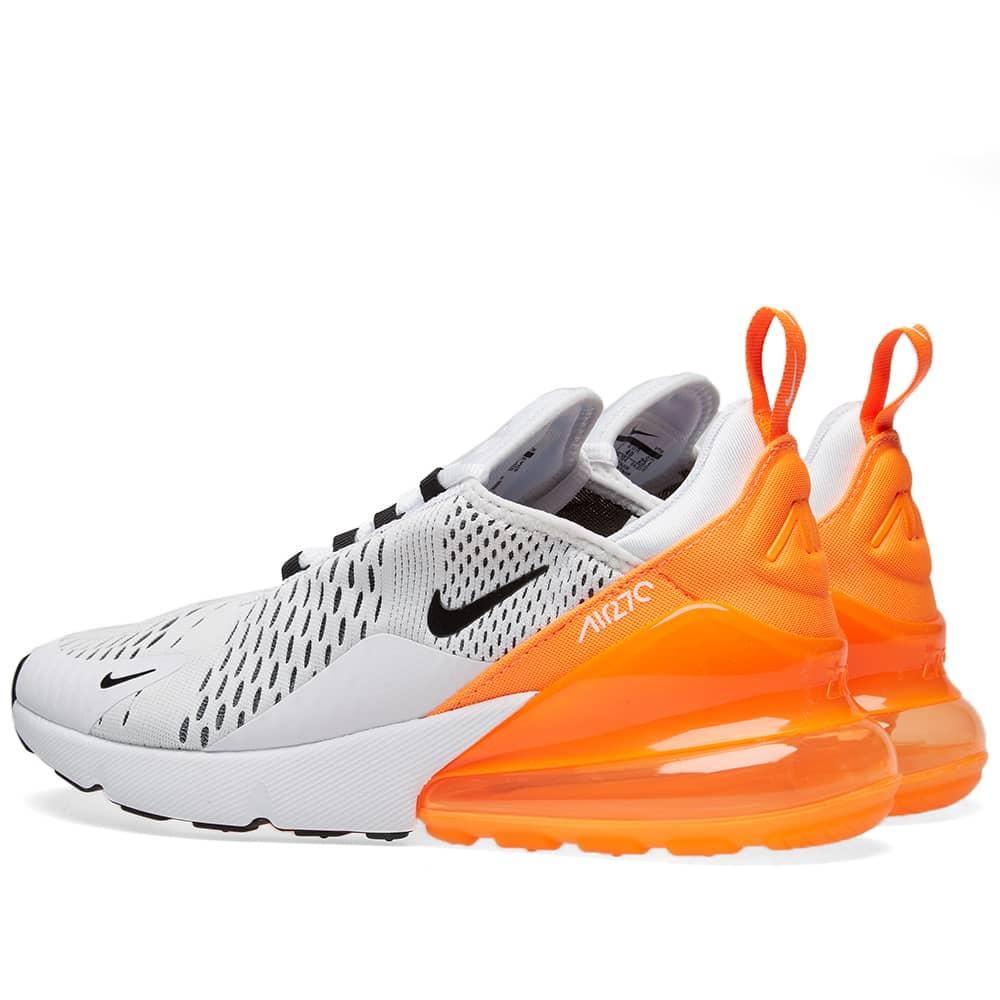 Nike Air Max 270 W - White, Black & Orange