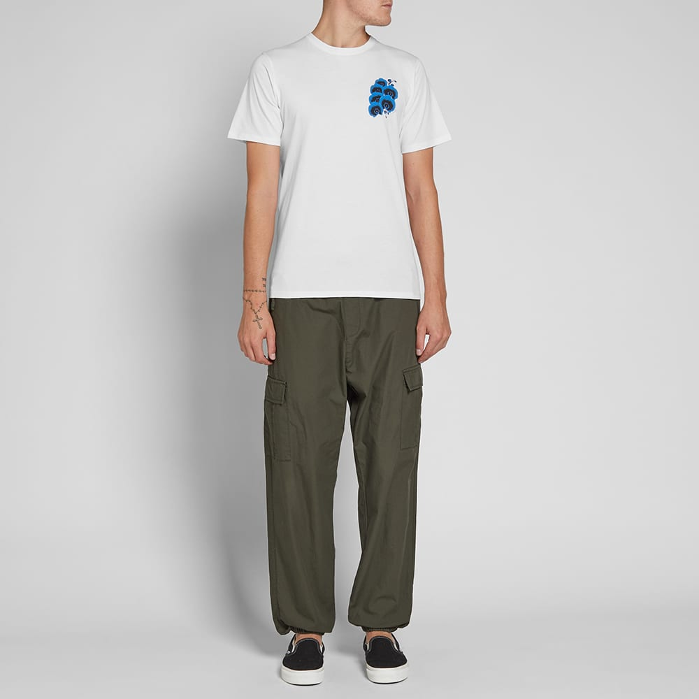 Saturdays NYC Blue Orchid Tee - White