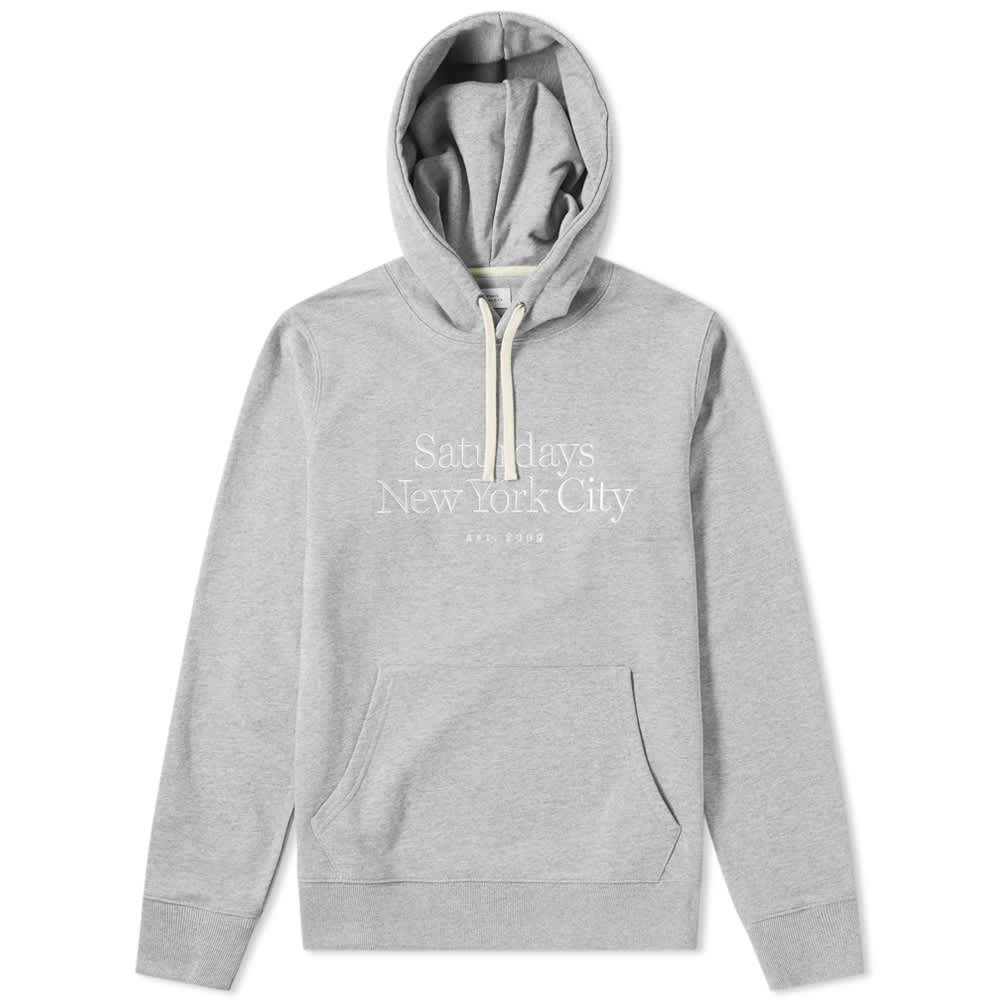Saturdays NYC Ditch Embroidered Miller Standard Hoody - Ash Heather