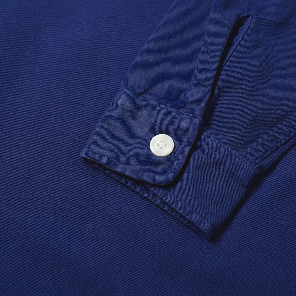 Saturdays NYC Irving Twill Popover Shirt - Cobalt