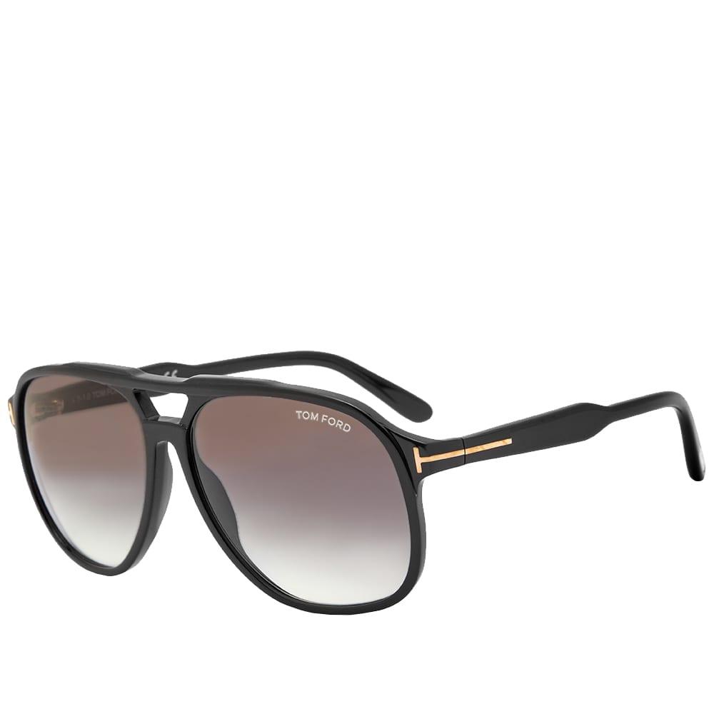 Tom Ford FT0753 Raoul Sunglasses - Shiny Black & Gradient Smoke