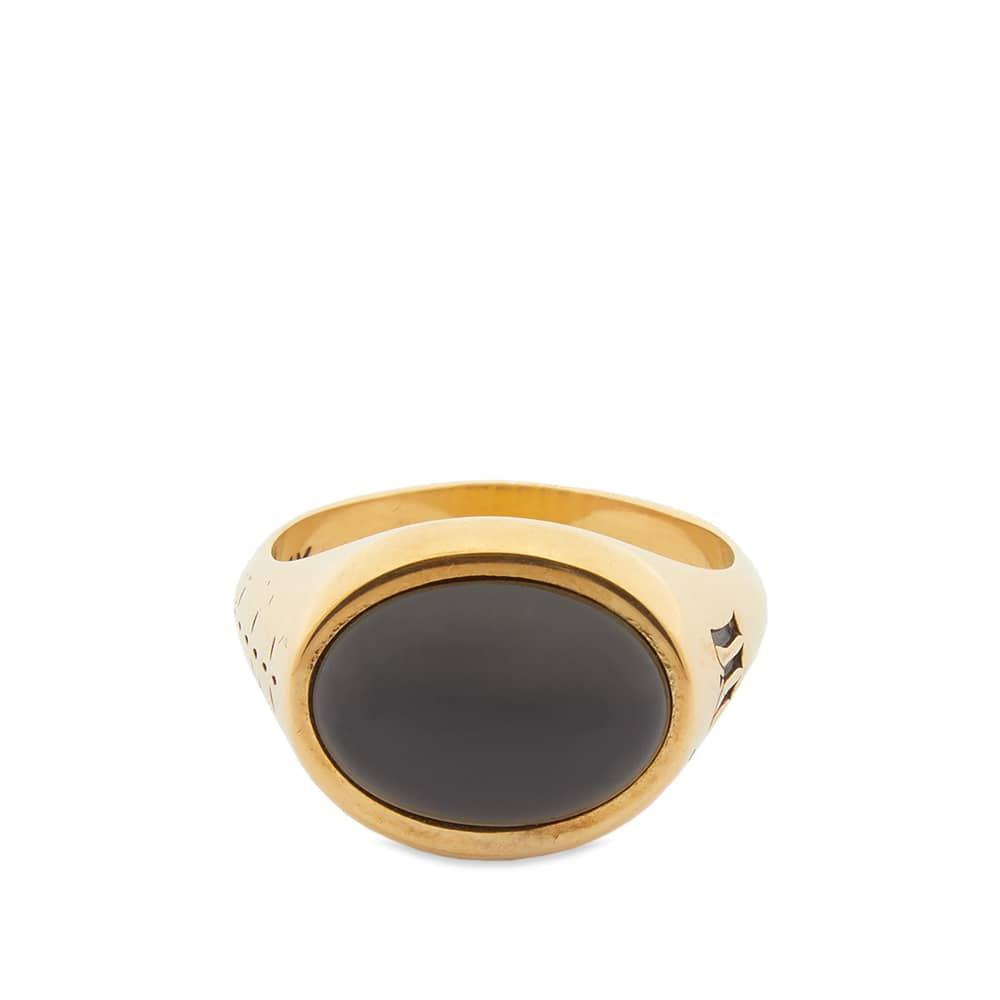 Maple Tubby Ring - Gold & Onyx
