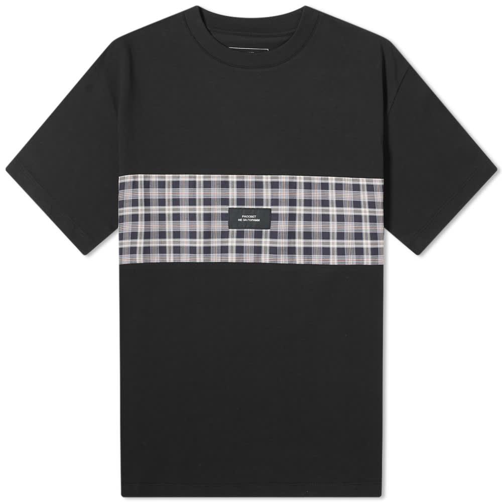 PACCBET Checked Band Logo Tee - Black