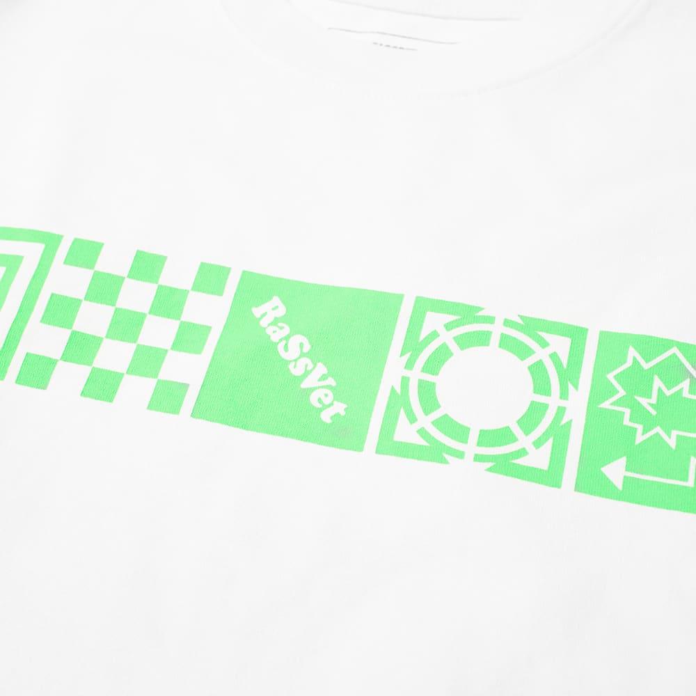 PACCBET Long Sleeve Square Logo Tee - White