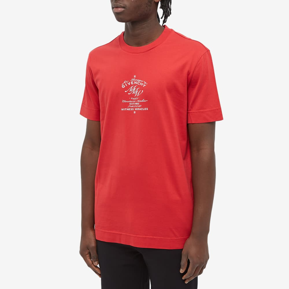 Givenchy MMW Crest Logo Tee - Red