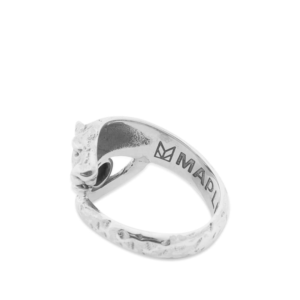 Maple Big Cat Ring - Silver & Onyx