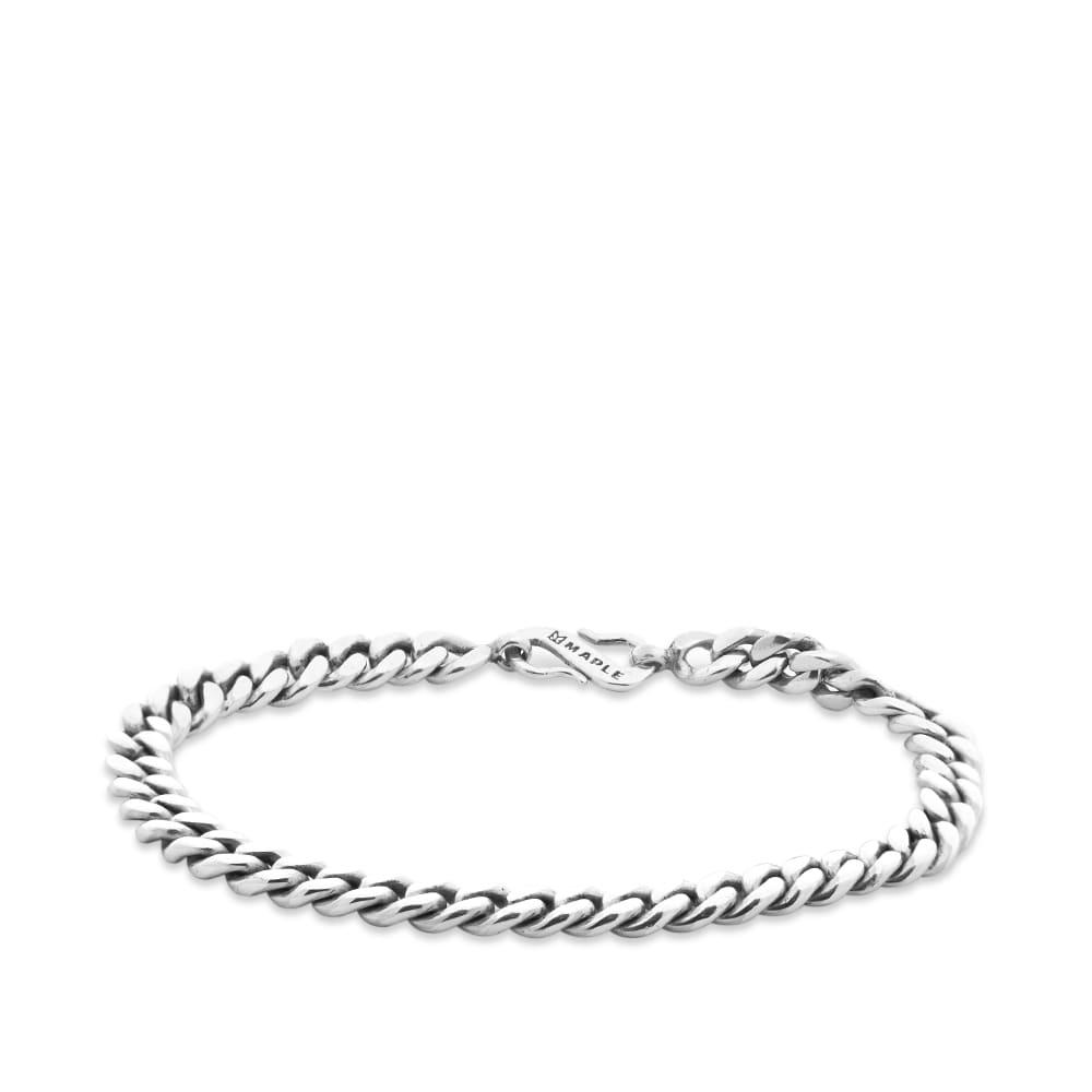 Maple Cuban Link Bracelet - Silver