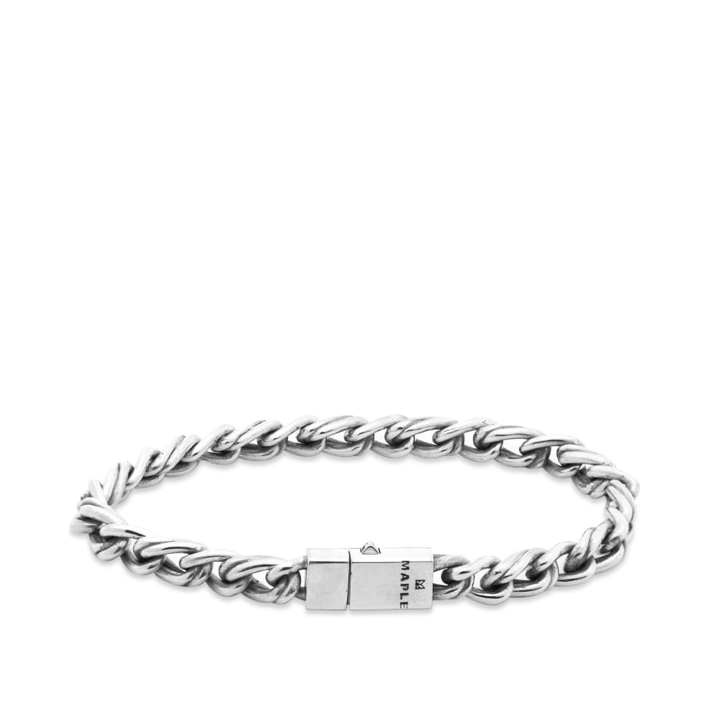 Maple Double Link Bracelet - Silver