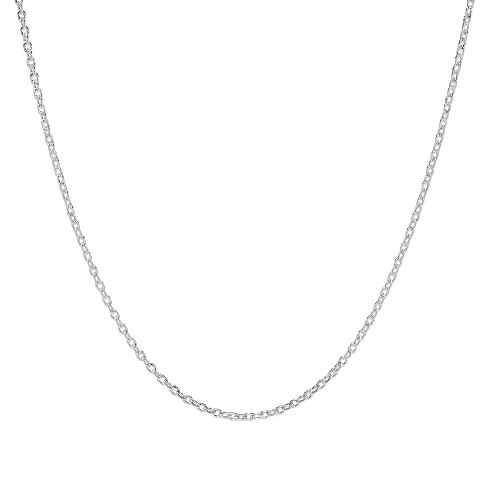 Maple Flat Chain 50cm - Silver
