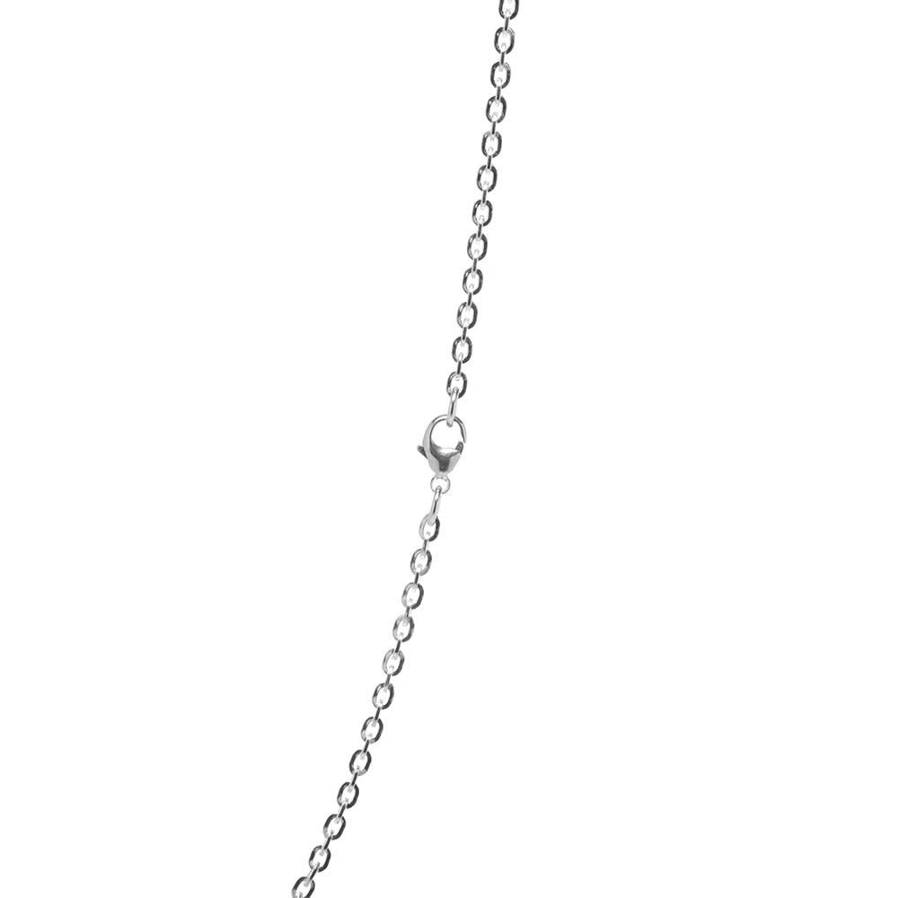 Maple Flat Chain 60cm - Silver